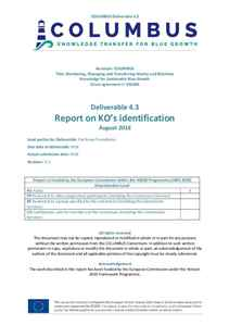 D4.3 - Report on KO's identification