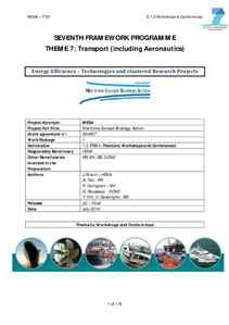 D1.3 - Energy Efficiency: Workshops