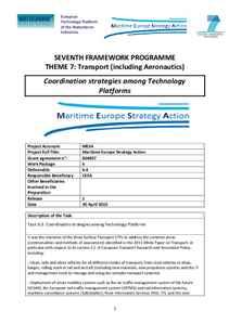 D6.4 - Coordination strategies among Technology Platforms